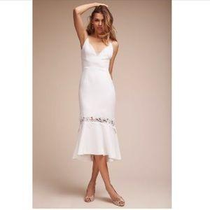BHLDN  AMINA DRESS WHITE 8 WHITE